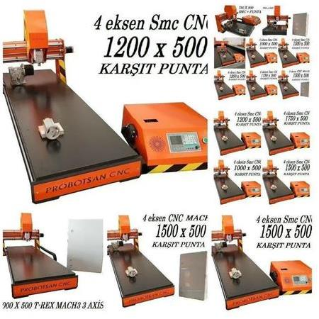 4 Eksen Mini Cnc Router 1500 X 500