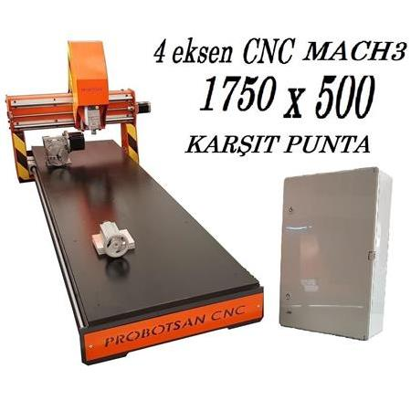 4 Eksen Mini Cnc Router 1750 x 500