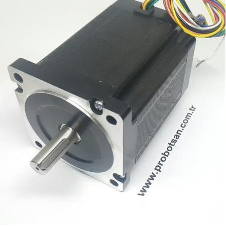 12 Nm Step Motor Nema 34 86Hs120 Ø14 Mm Toptan